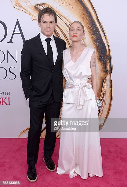 Michael C Hall and Morgan Macgregor attend the 2016 CFDA Fashion Awards at the Hammerstein Ballroom on June 6 2016 in New York City