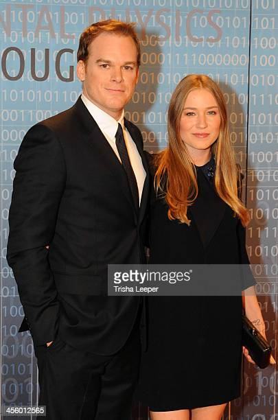 Michael C Hall and Morgan Macgregor attend the Breakthrough Prize Inaugural Ceremony at NASA Ames Research Center on December 12 2013 in Mountain...