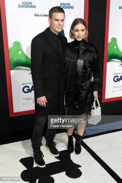 Michael C Hall and Morgan Macgregor attend the premiere of New Line Cinema and Warner Bros Pictures' 'Game Night' at TCL Chinese Theatre on February...