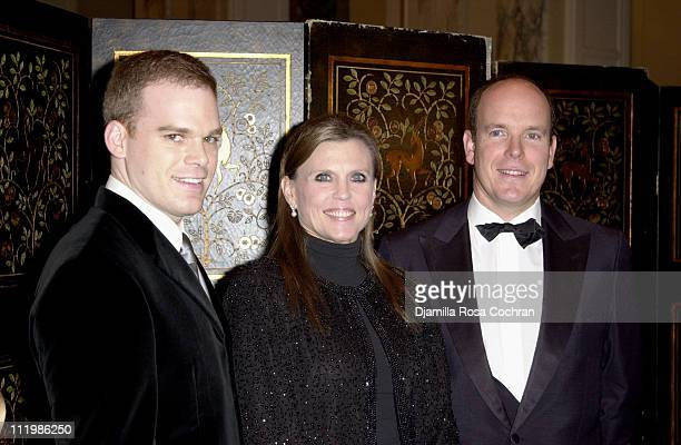 Michael C Hall Ann Reinking and HSH Prince Albert of Monaco