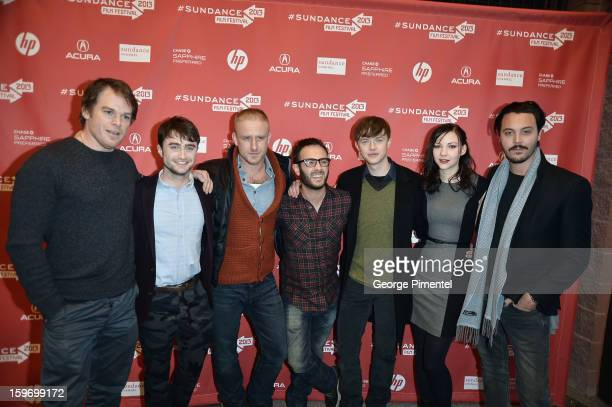 Michael C Hall Daniel Radcliffe Ben Foster John Krokidas Dane DeHaan Erin Darke and Jack Huston attend the 'Kill Your Darlings' Premiere during the...