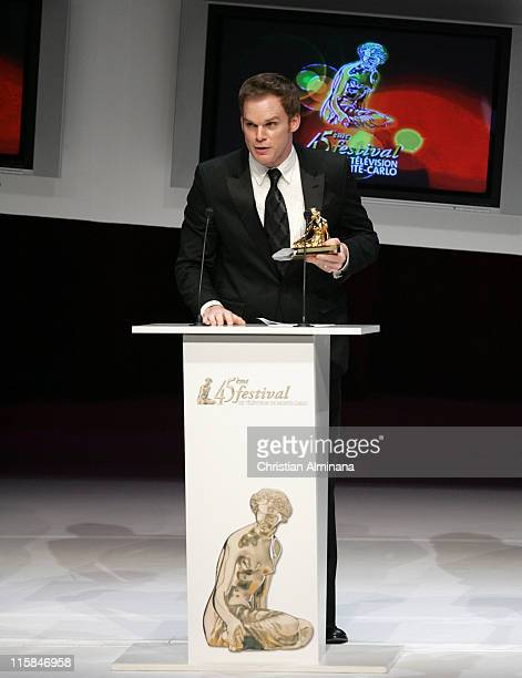 Michael C Hall during 45th Monte Carlo TV Festival Salles des Princes Awards Ceremony at Grimaldi Forum in Monte Carlo Monaco