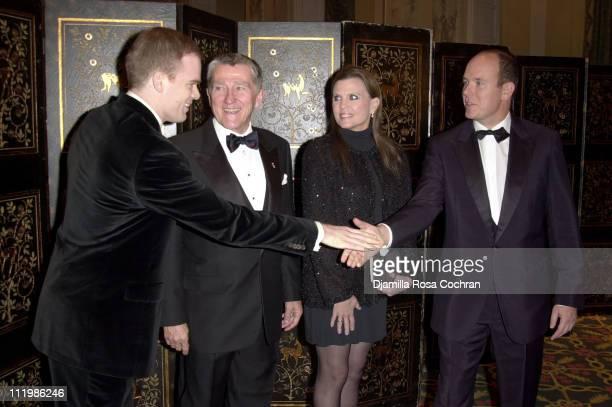 Michael C Hall John Lehman Ann Reinking and HSH Prince Albert of Monaco