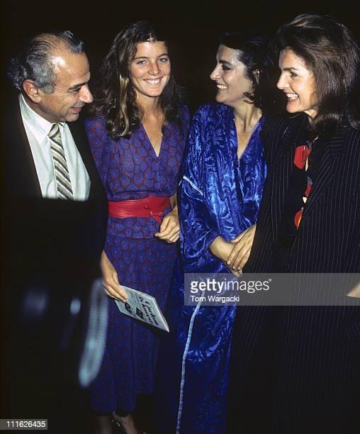 Michael Cacoyannis, Caroline Kennedy, Irene Papas and Jackie Onassis