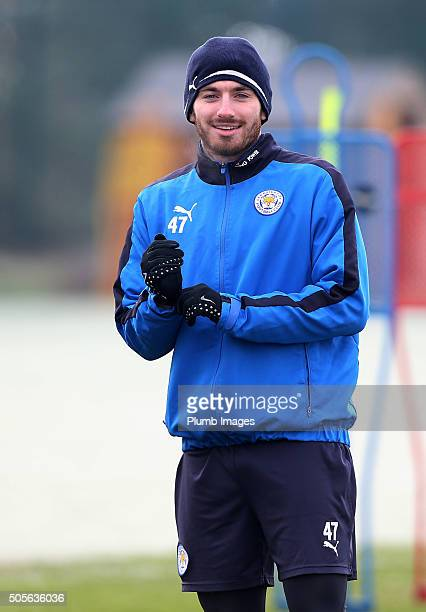 Michael Cain during the Leicester City training session at Belvoir Drive Training Complex on January 19th 2016 in Leicester United Kingdom