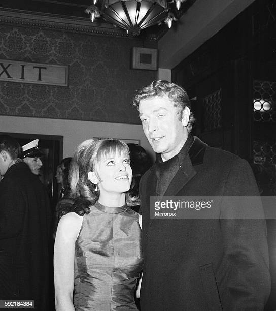Michael Caine and Edina Ronay at the Premiere of 'Zulu' 23rd January 1964
