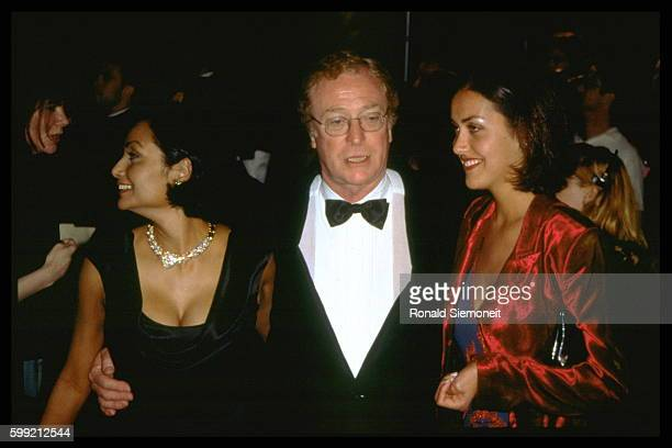 Michael Caine and his wife Shakira and daughter Natasha arrive