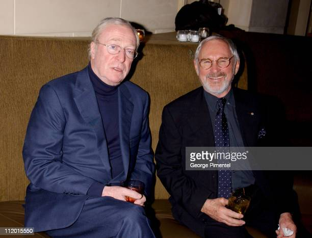 "Michael Caine and Norman Jewison during ""The Statement"" After Party at Windsor Arms Hotel in Toronto, Ontario, Canada."