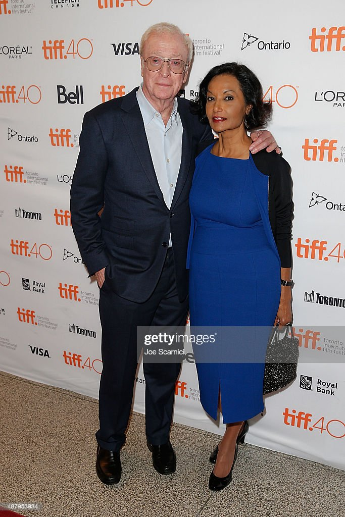 Michael Caine and Shakira Baksh attend 2015 Toronto International Film Festival - 'Youth' Premiere at The Elgin on September 12, 2015 in Toronto, Canada.