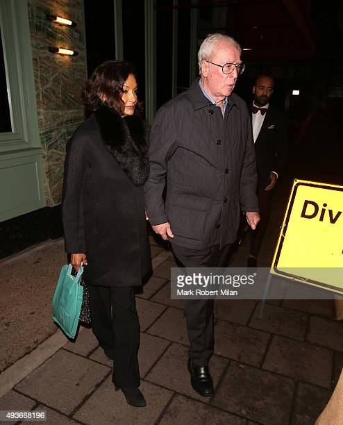 Michael Caine and Shakira Caine at Sexy Fish on October 21, 2015 in London, England.