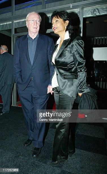 Michael Caine and Shakira Caine during Pirelli 2007 Calender - Gala Dinner - Arrivals at Battersea Evolution in London, Great Britain.