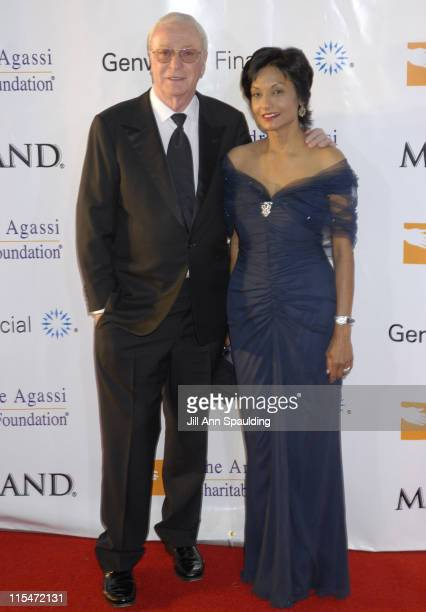Michael Caine and Shakira Caine during The Andre Agassi Charitable Foundation's 11th Grand Slam for Children at MGM Grand in Las Vegas Nevada United...