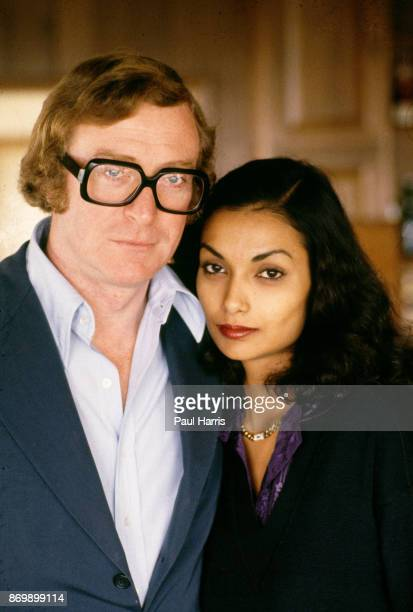 Michael Caine and wife Shakira at their Beverly Hills Home on Davies Drive the home is close to the infamous Cielo Drive home where Sharon Tate was...