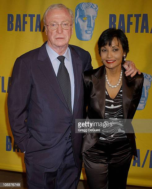 Michael Caine and wife Shakira Caine during 13th Annual BAFTA/LA Britannia Awards at Beverly Hilton Hotel in Beverly Hills, California, United States.