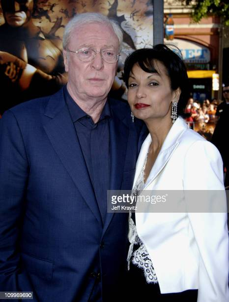 Michael Caine and wife Shakira Caine during Batman Begins Los Angeles Premiere - Arrivals at Grauman's Chinese Theater in Hollywood, California,...