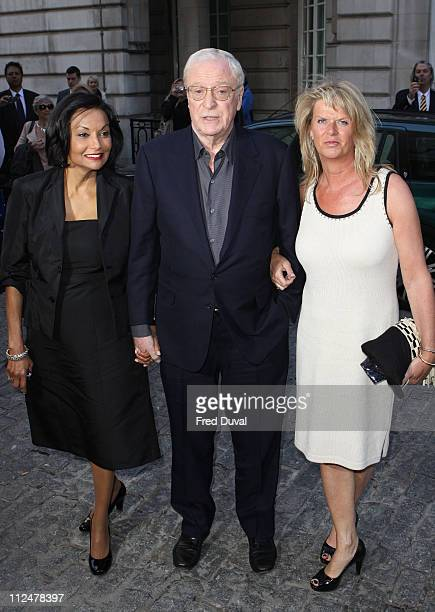 Michael Caine and wife Shakira Caine with daughter Dominique arrives at the London film Premiere of 'Is Anybody There at Curzon Mayfair 38 Curzon...