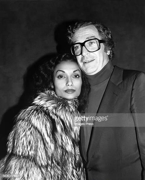 Michael Caine and wife Shakira circa 1982 in New York City