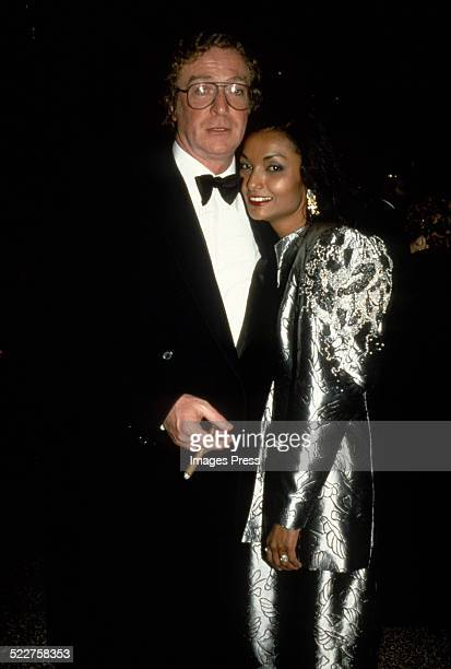 Michael Caine and wife Shakira circa 1985 in New York City