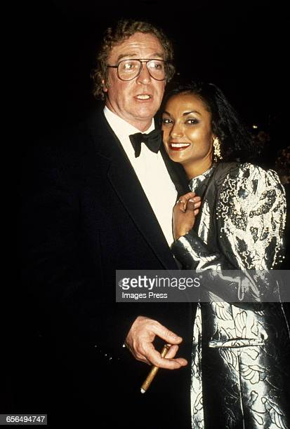 Michael Caine and wife Shakira circa 1985 in New York City.