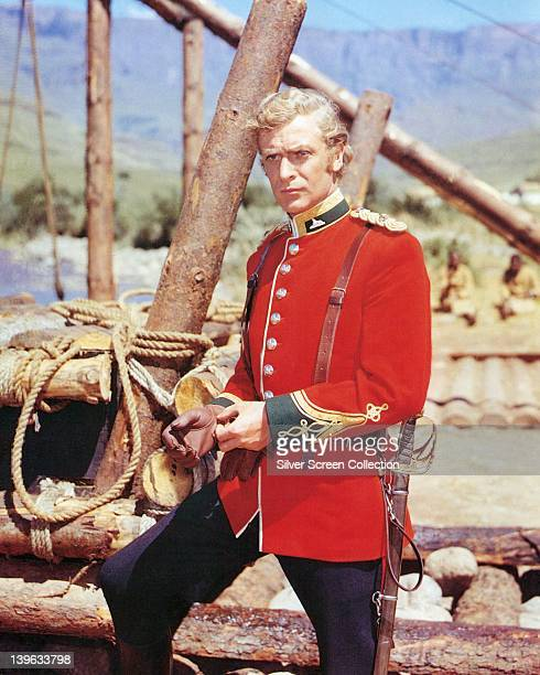 Michael Caine British actor wearing a British Army uniform in a publicity portrait issued for the film 'Zulu' South Africa 1964 The historical drama...