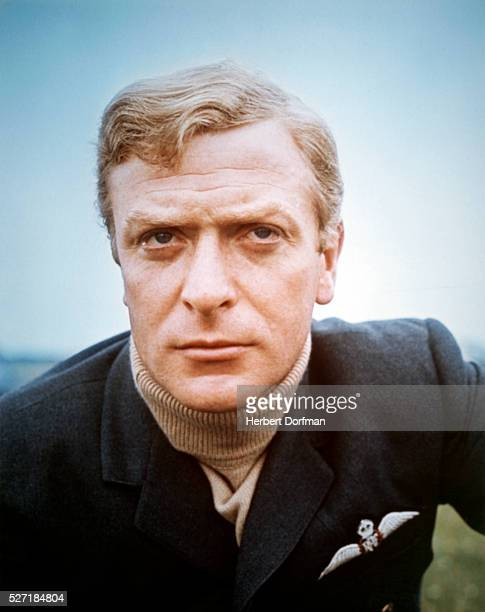 "Michael Caine in RAF uniform for ""Battle of Britain"""