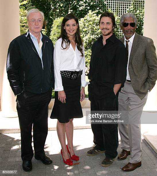 Michael Caine, Katie Holmes, Christian Bale and Morgan Freeman
