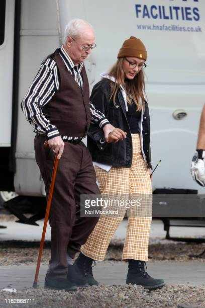 Michael Caine on set of new Sky adaptation of Oliver Twist called 'Twist' on October 23 2019 in London England