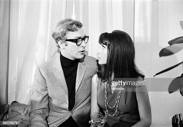 Michael Caine returns as spy Harry Palmer in 'Funeral in Berlin' Seen here at a reception at The Trattoria Terazza with costar Anjanette Comer 27th...
