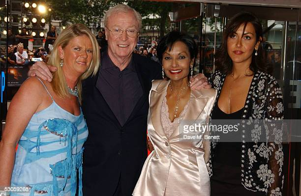 Michael Caine Shakira Caine Natasha Caine and Nicky Caine arrive at the European premiere of Batman Begins at the Odeon Leicester Square on June 12...