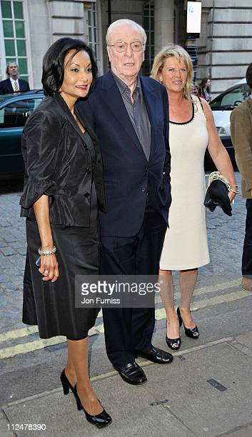 Michael Caine wife Shakira and daughetr Dominique arrives at the 'Is Anybody There' Gala Premiere at the Curzon Mayfair Cinema on April 29 2009 in...