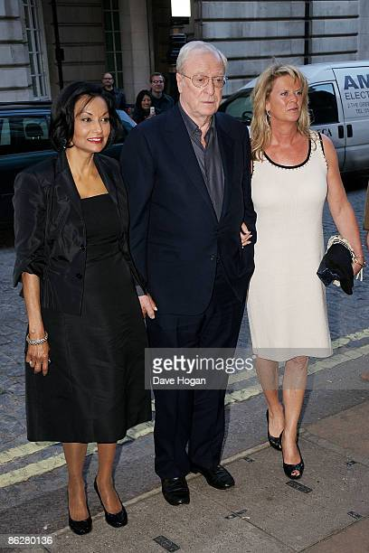 Michael Caine wife Shakira and daughter Dominique Caine attend the Gala premiere of 'Is Anybody There' held at The Curzon Cinema Mayfair on April 29...