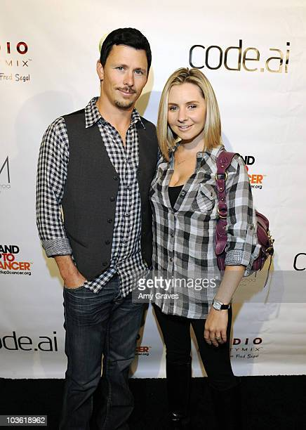 Michael Cameron and actress Beverly Mitchell attends the Launch Party For codeai At Fred Segal Studio Beautymix on November 5 2009 in Santa Monica...