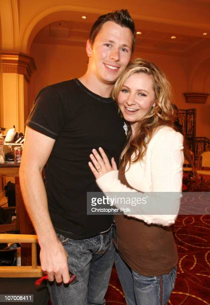 Michael Cameron and Beverley Mitchell during Hollywood Christmas Celebration From The Grove Backstage at The Grove in Los Angeles California United...