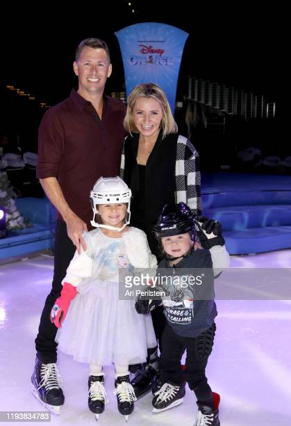 Michael Cameron and Beverley Mitchell with children Kenzie and Hutton attend Disney On Ice Presents Mickey's Search Party Holiday Celebrity Skating...