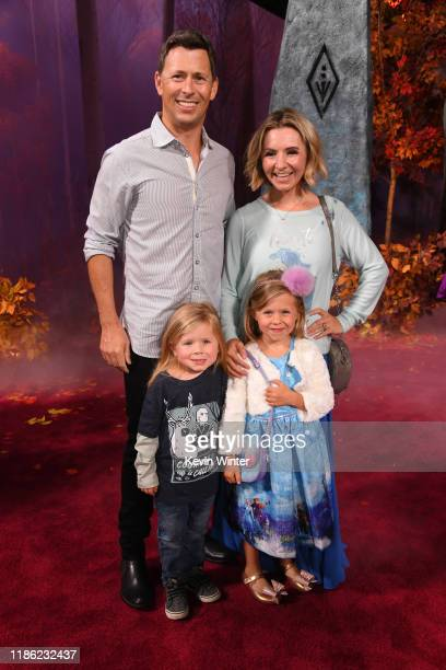 Michael Cameron Beverley Mitchell Hutton Michael Cameron and Kenzie Cameron attend the premiere of Disney's Frozen 2 at Dolby Theatre on November 07...