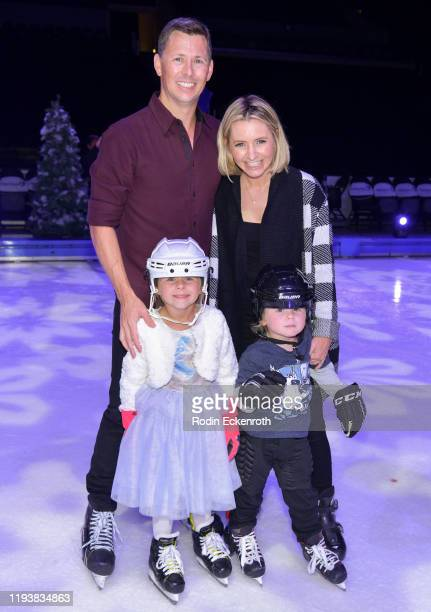 Michael Cameron Kenzie Cameron Beverley Mitchell and Hutton Michael Cameron pose for portrait at 2019 Disney On Ice Mickey's Search Party at Staples...
