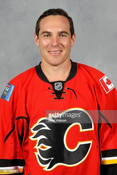 Michael Cammalleri of the Calgary Flames poses for his official headshot for the 20132014 season on September 12 2013 at the WinSport Winter Sport...