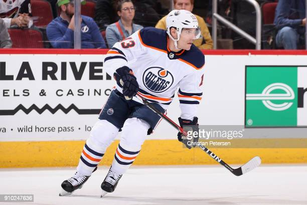 Michael Cammalleri of the Edmonton Oilers in action during the first period of the NHL game against the Arizona Coyotes at Gila River Arena on...