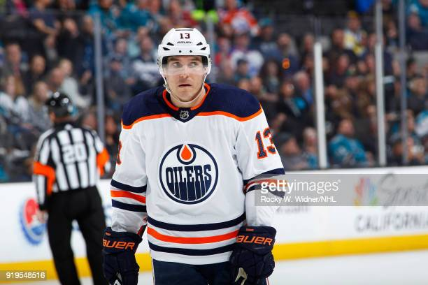 Michael Cammalleri of the Edmonton Oilers looks on during the game against the San Jose Sharks at SAP Center on February 10 2018 in San Jose...