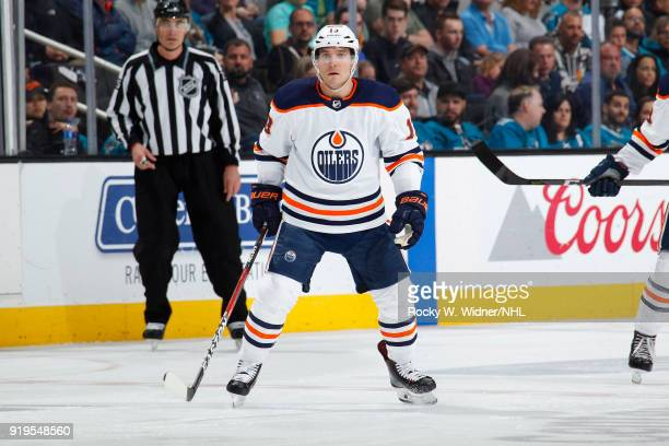 Michael Cammalleri of the Edmonton Oilers skate against the San Jose Sharks at SAP Center on February 10 2018 in San Jose California