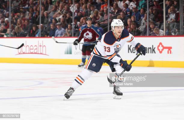 Michael Cammalleri of the Edmonton Oilers skates against the Colorado Avalanche at the Pepsi Center on February 18 2018 in Denver Colorado The Oilers...