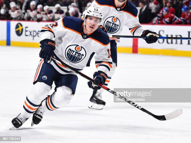 Michael Cammalleri of the Edmonton Oilers skates against the Montreal Canadiens during the NHL game at the Bell Centre on December 9 2017 in Montreal...