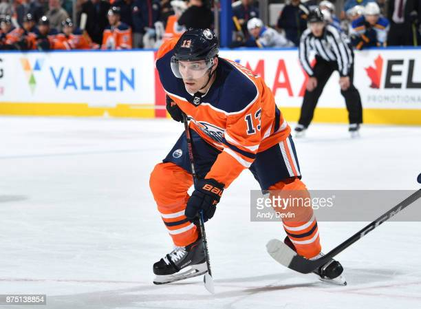 Michael Cammalleri of the Edmonton Oilers skates during the game against the St Louis Blues on November 16 2017 at Rogers Place in Edmonton Alberta...