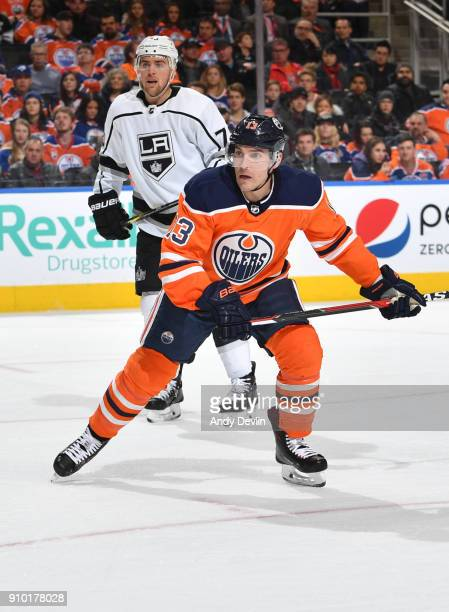 Michael Cammalleri of the Edmonton Oilers skates during the game against the Los Angeles Kings on January 2 2018 at Rogers Place in Edmonton Alberta...