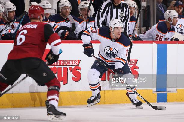 Michael Cammalleri of the Edmonton Oilers skates with the puck during the third period of the NHL game against the Arizona Coyotes at Gila River...