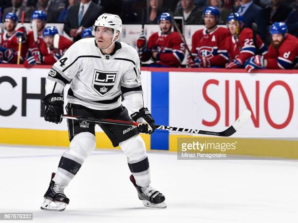 Michael Cammalleri of the Los Angeles Kings skates against the Montreal Canadiens during the NHL game at the Bell Centre on October 26 2017 in...