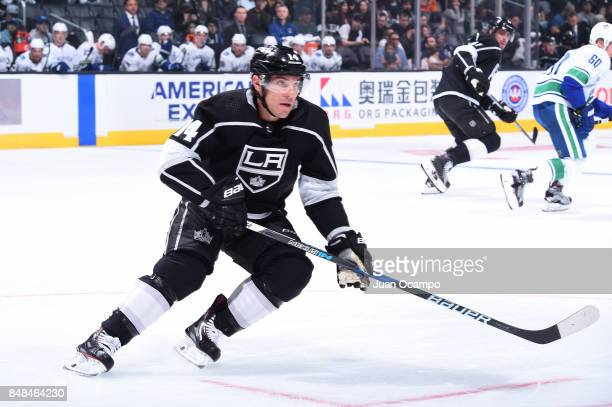 Michael Cammalleri of the Los Angeles Kings skates on ice during a game against the Vancouver Canucks at STAPLES Center on September 16 2017 in Los...