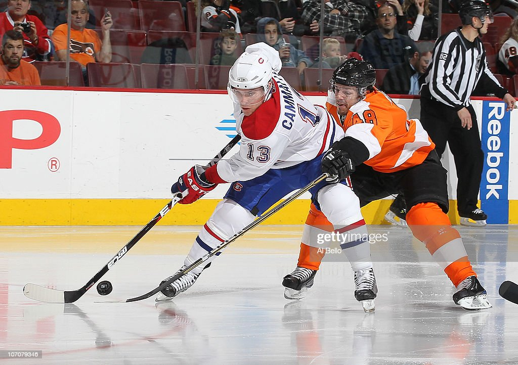 Michael Cammalleri  13 of the Montreal Canadiens and Danny Briere  48 of  The Philadelphia 491d523cc