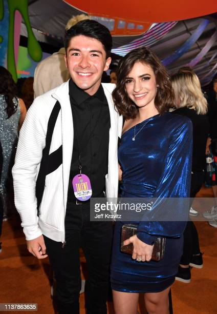 Michael Campion and Soni Bringas attend Nickelodeon's 2019 Kids' Choice Awards at Galen Center on March 23 2019 in Los Angeles California