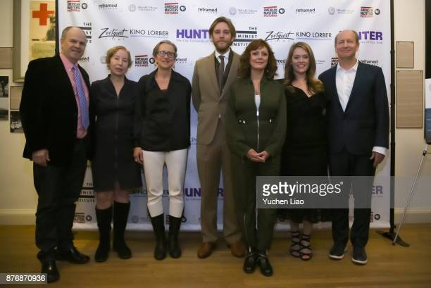 Michael Cantor Nancy Gerstman Emily Russo Adam Haggiag Susan Sarandon Alexandra Dean and Doron Weber attend 'Bombshell The Hedy Lamarr Story'...